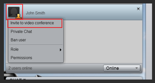 Invite attendee to Video Conference